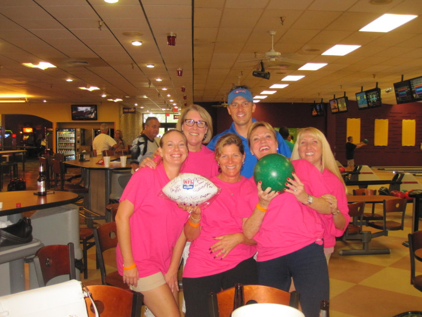 Dr. Brian Rask and Staff participate in NFL Charity Bowling Tournament
